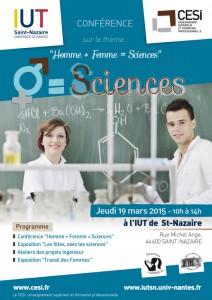 Affiche CESI Conférence Sciences