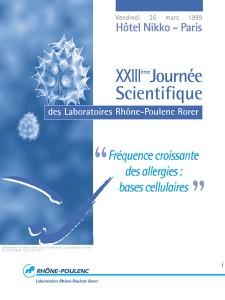 Affiche Rhone-Poulenc 23ème journée scientifique