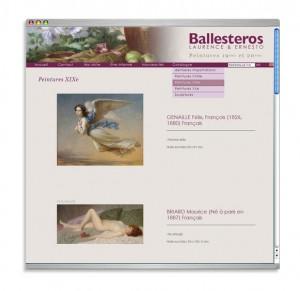 "Site web antiquaire ""Ballesteros"""