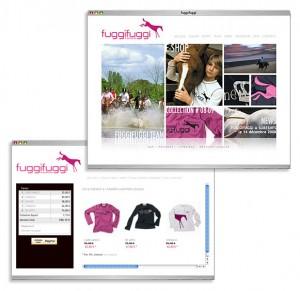 """Site e-commerce """"sportswear"""" pour la marque fuggifuggi (Vêtements équitation)"""