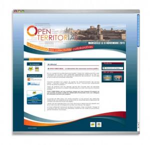 """Site web évènementiel """"Open Territorial"""""""